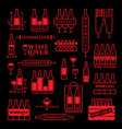 wine labels set vector image