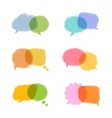 Speech bubbles w vector image