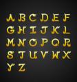 Thai Calligraphic Alphabet design vector image