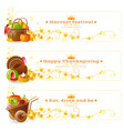 autumn thanksgiving holiday food banner set vector image