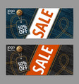 denim texture jeans bannersale banners design vector image