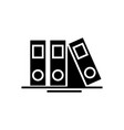 folders and files icon black vector image