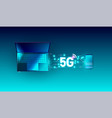 5g new global network high speed innovation vector image vector image