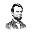 abraham lincoln portrait 16th usa president vector image