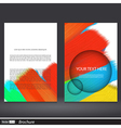 Abstract acrylic painted brochure vector image