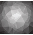abstract low poly black and white background vector image vector image
