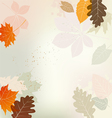 Autumn Background Multicolored Leaves vector image vector image