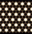 black and gold hexagon geometric pattern vector image