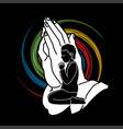 boy prayer christian praying praise god vector image vector image