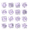 business and office icon set universal icons vector image vector image