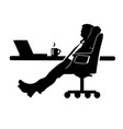 businessman silhouette a man in a suit and tie vector image vector image
