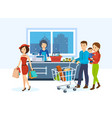 buyers go around store in order to purchase goods vector image vector image