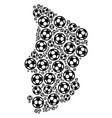 chad map mosaic of football spheres vector image vector image