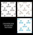 chandelier seamless pattern set pattern lamp vector image