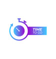 color stopwatch icon isolated on white background vector image vector image