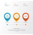 communication icons set collection of badge vector image vector image