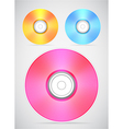 Compact disc collection vector image