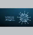 corona virus 3d polygonal text virus infections vector image