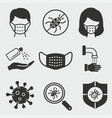 coronavirus icon set isolated on vector image