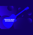 dark blue musical background with guitar vector image