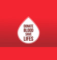 donate blood save background style vector image vector image