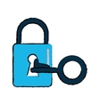 drawing padlock key security system technology vector image vector image