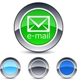e-mail round button vector image