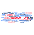 Education Word cloud vector image vector image
