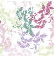 Embroidery leaves on white background vector image vector image