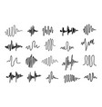 equalizer icons sound waves icon set vector image