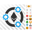 ethereum pool collaboration icon with bonus vector image vector image