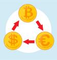 exchange rates concept icon vector image