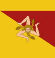 flag sicily vector image