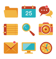 Flat icons set 3 vector image vector image