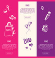 france touristic horizontal web banners vector image vector image
