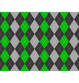 Gray green fabric argyle seamless pattern vector image vector image