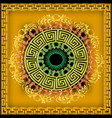 greek ornamental 3d mandala pattern bright vector image
