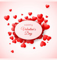 greeting card of valentines day amour and love vector image vector image