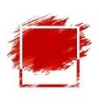 Grunge frame on stroke vector image vector image