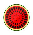 icon half of watermelon vector image vector image