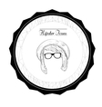 Isolated hipster label vector image