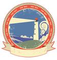 lighthouse symbol vintage vector image vector image