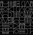 line shapes seamless geometric pattern vector image