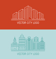 linear city logo concepts vector image vector image