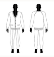 mans black silhouette figure in a cardigan jeans vector image vector image