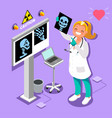 medical doctor radiology icon isometric people vector image vector image
