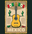 mexican holiday cinco de mayo fiesta sketch poster vector image vector image