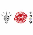 mosaic brain idea bulb icon with textured vector image vector image