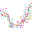 Multicolor Musical Design vector image vector image