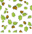 oak leaves and acorns vector image